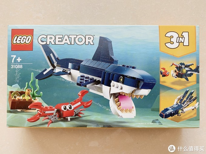 乐高创意百变31088拼搭指北:深海生物大鲨鱼,拼成3变变形金刚