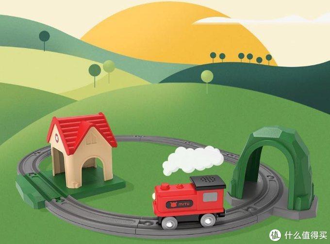 稚嫩小手创意拼搭童趣世界,小米有品里的电动火车积木