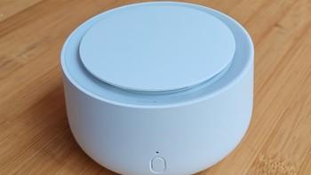 米家的驱蚊器外观展示(按钮|指示灯|造型|橡胶圈|底部)
