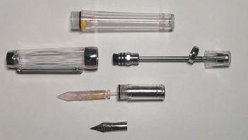 永生 3013钢笔外观图片(活塞 笔握 笔尖 笔帽 笔杆)