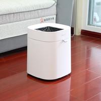 拓牛 T1-Air 智能感应垃圾桶 (白色)外观展示(开口|垃圾盒|压板|拉带|按键)