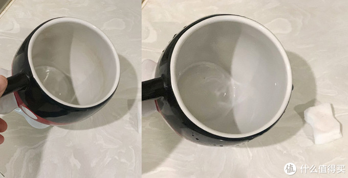 使用前后对比,茶渍轻松去除