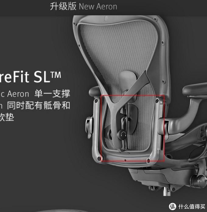 这是aeron在直坐时候可以提供的支撑面积,其实我还少圈出上面的一个背靠