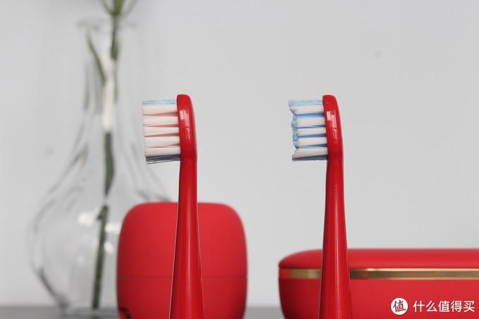 亮骚的大红色,高品质XESS光波双净牙刷满足你挑剔的另一半