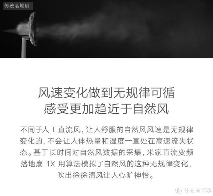 ▲官方对米家风扇与传统风扇的对比宣传