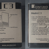 jonsbo C3全铝机箱外观图片(进风口 开关 过滤网 扩展仓 灯带)