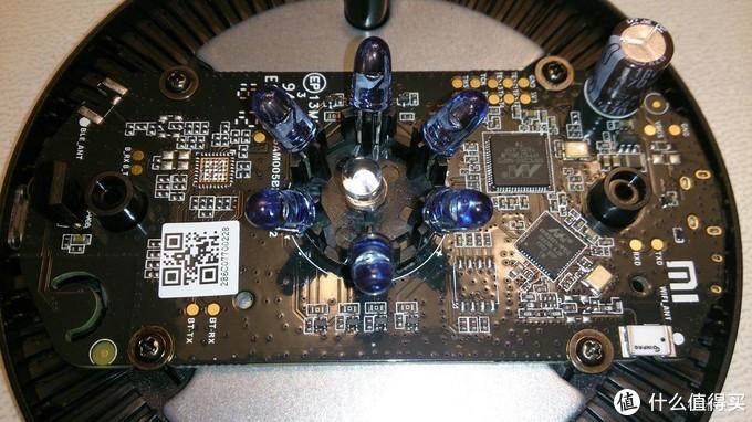前端也就是蓝灯的地方是接收红外的模块,用来学习红外码的。