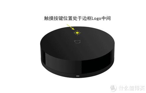 它的位置在小米万能遥控器盖子上标志的上方位置