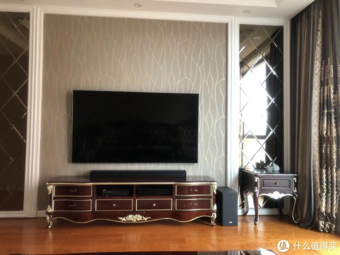 75寸的电视,回音壁显得就不是那么大了