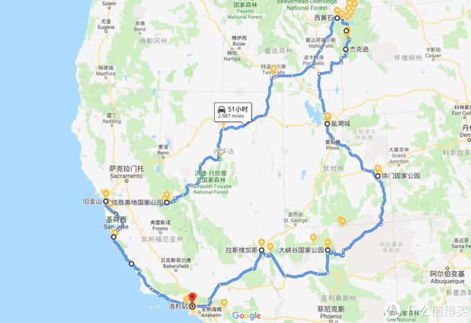 Google maps路线