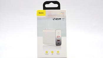 倍思1A1C 45W PD PPS充电器开箱展示(本体|logo|接口|面板|参数)