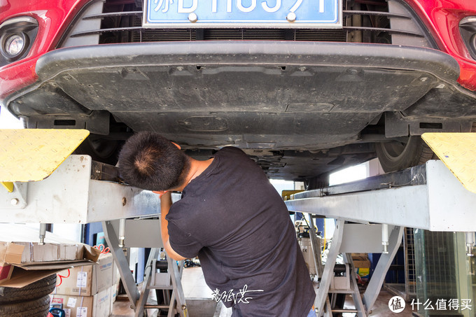 常州第一批满五年阿特兹大保健之重力法换自动变速箱油