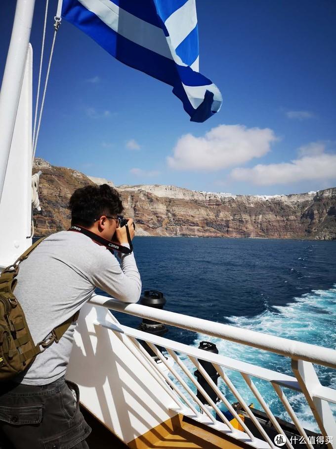 寡人在对圣岛最后留念拍照
