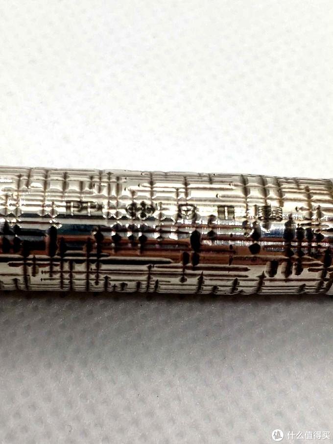 银元首笔杆的五连纯银标记