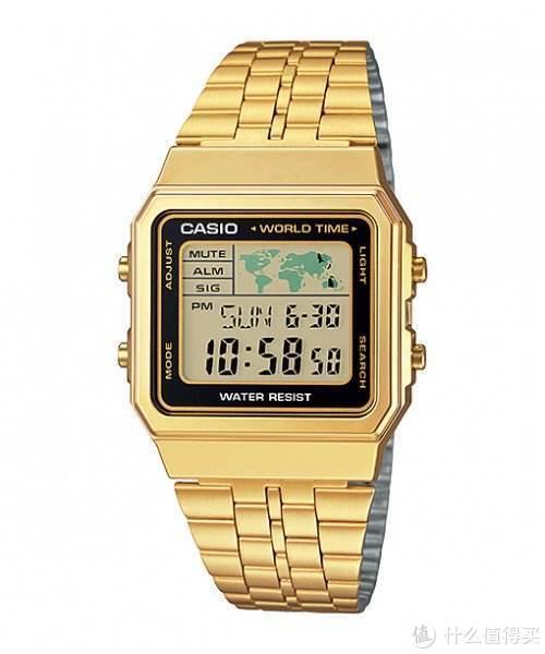 没金链子那就买个小手表,卡西欧AG500WGA复古手表。