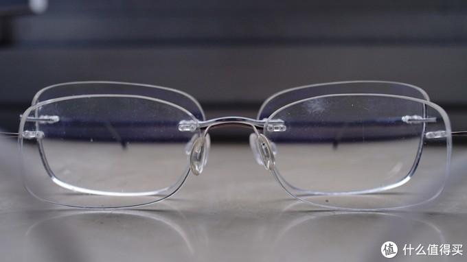 新眼镜大一圈儿,特别是在上面