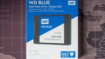 西数蓝盘500G SSD外观图片(接口|尺寸|长度|颗粒|元器件)