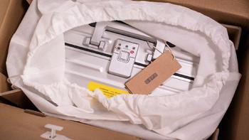 京东京造 旅行箱开箱展示(箱体|保护罩|密码锁|把手|拉杆)