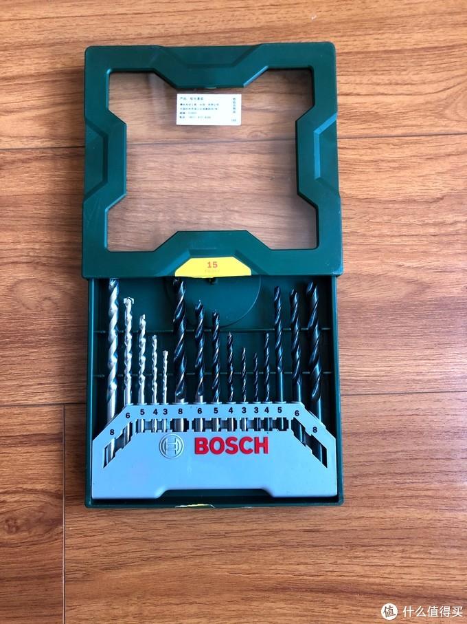 进进出出都很顺畅爽滑的钻头-博世(BOSCH)15支钻头绿色套装 开箱简评