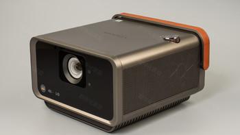 优派 X10 家用4K投影仪开箱展示(机身|提手|旋钮|支架|接口)
