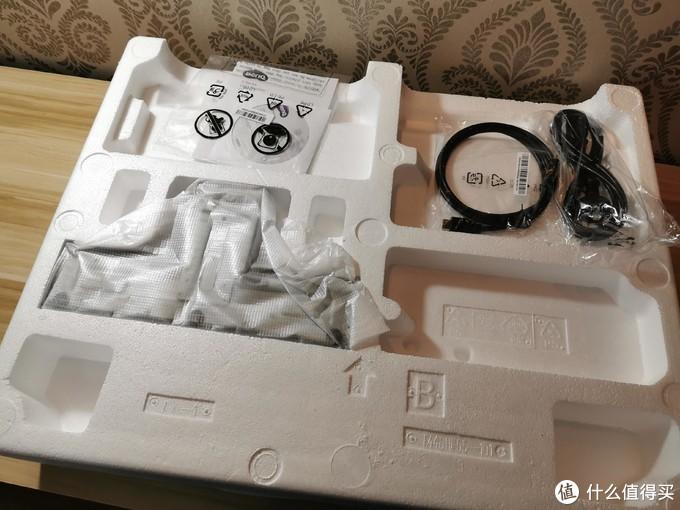 配件说明书*1 底座*1 HDMI线*1 电源线*1底座需要组装一哈.