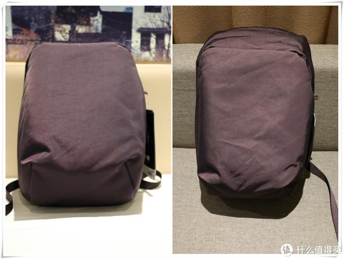 深紫色的背包非常漂亮