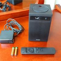 当贝 C1 便携投影仪开箱展示(摄像头|遥控器|电池|电源线|接口)