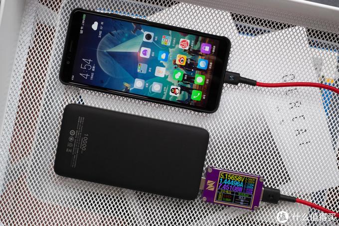 支持无线快充与有线PD快充:绿联PD无线充电宝10000毫安 PB124