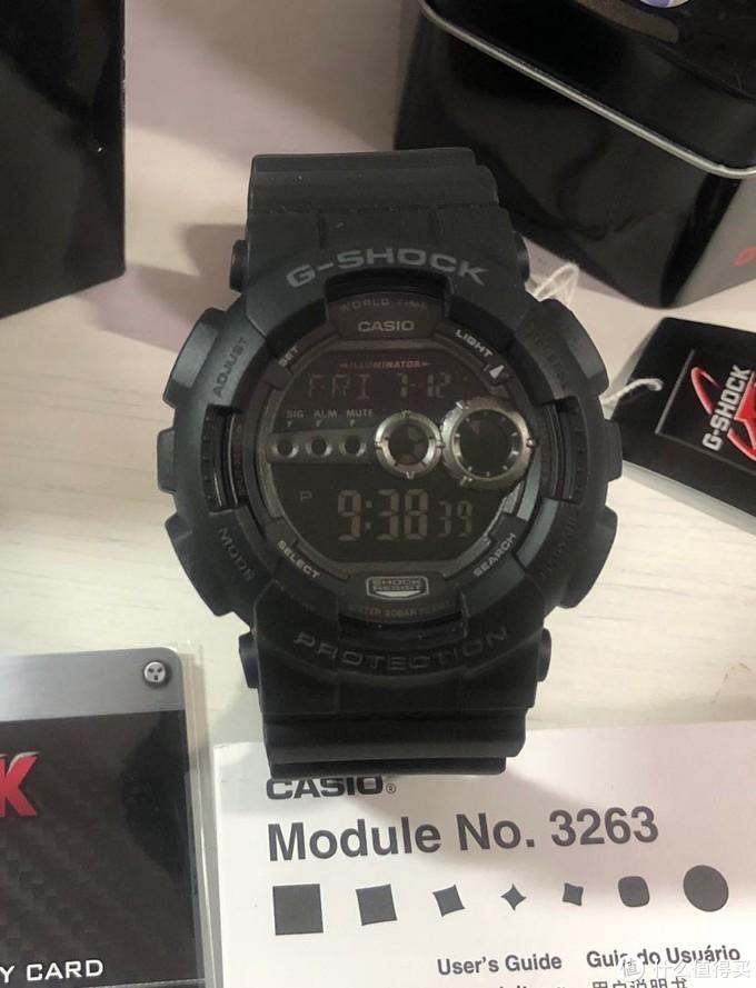 亚马逊412元狂欢价:G-SHOCK蓝底手表GD-100-1B开箱评测