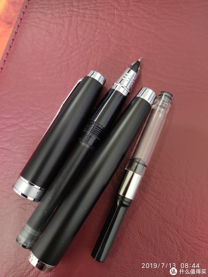 原配吸墨器,不喜欢用,插入送的墨囊。