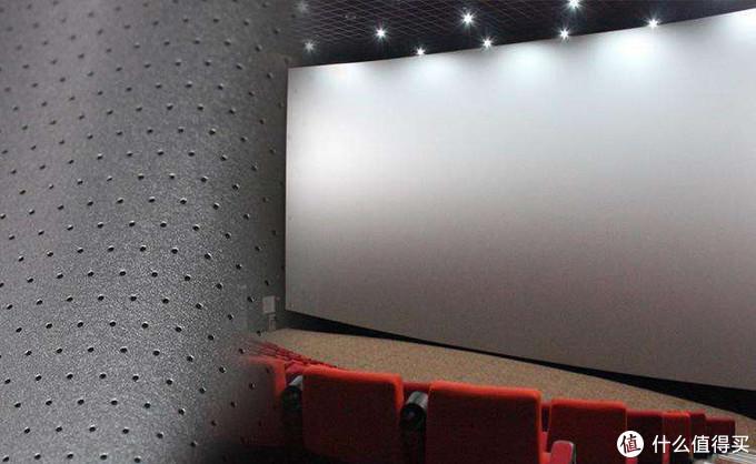 这是商业影院的打孔金属透声幕