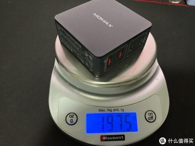 MOMAX摩米士66W充电器总量:197.5g