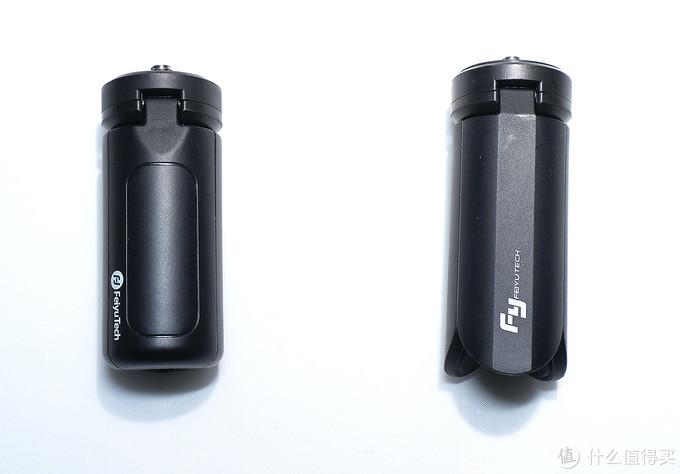 三脚架对比,左为VLOG Pocket
