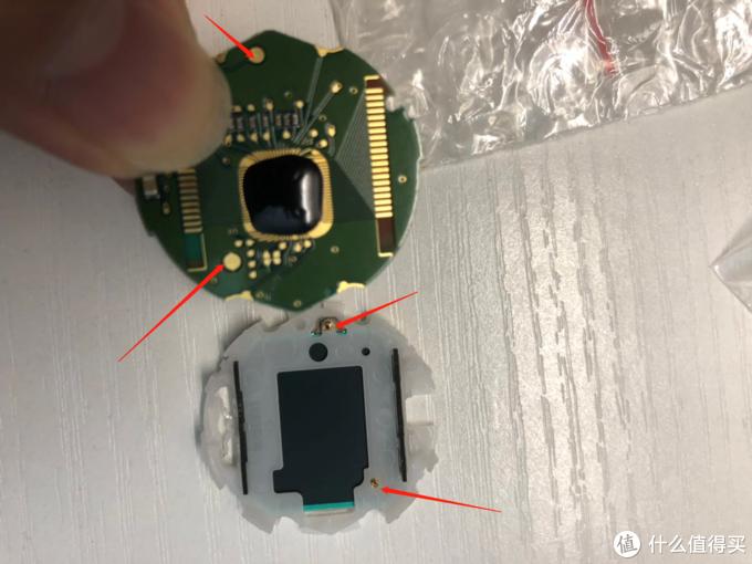 电路板上面的点和弹簧点对应