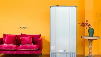 云米 21FACE 450-WMLA 对开门冰箱开箱晒物(大屏|门板|瓶架|出风口|滚轮)
