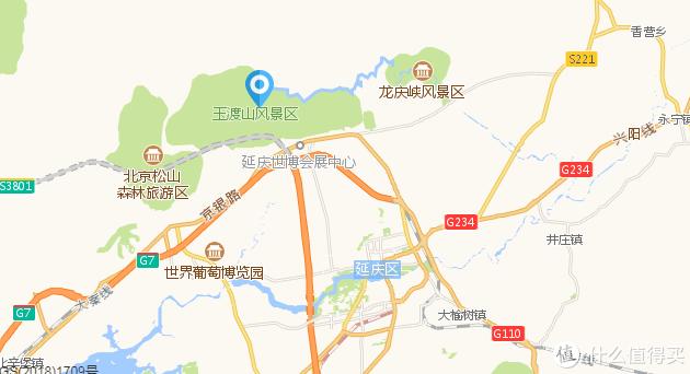 玉渡山景区位于延庆市区西北部,其实跟松山、龙庆峡、古崖居景区都处于同一个山脉,彼此都离着不远