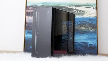 鑫谷全新ATX3.0机箱外观展示(灯带 尺寸 厚度 背面)