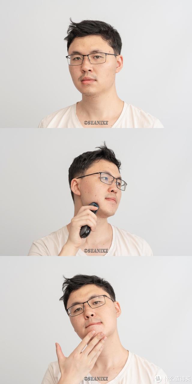 进击的须眉:须眉三刀头剃须刀