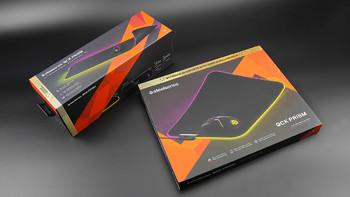 赛睿 QcK Prism Cloth XL RGB 鼠标垫外观展示(灯带|导光管)