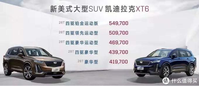 新车速递:凯迪拉克XT6正式上市同是40万,选X3还是XT6