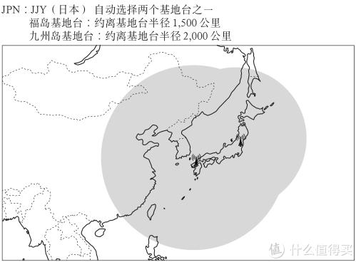 ▲ 日本授时信号覆盖范围