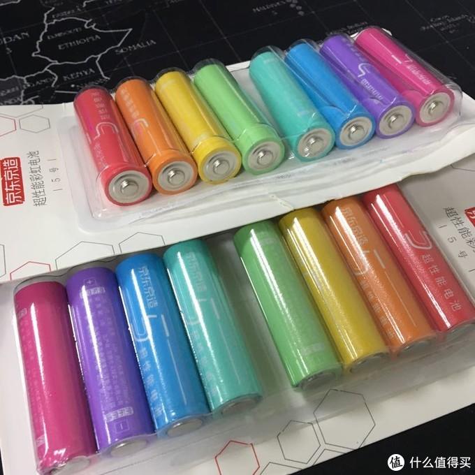 赤橙黄绿青蓝紫,京造彩虹电池开箱