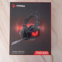 钛度 THS300 暗鸦之眼 游戏耳机开箱晒物(头梁 耳罩 接口 面板)