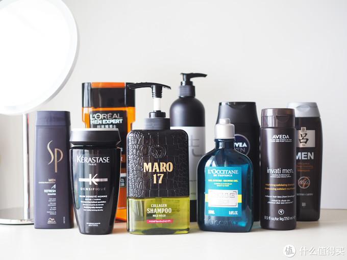 9款男士洗发水大合影