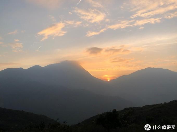 大东山看日落凤凰山