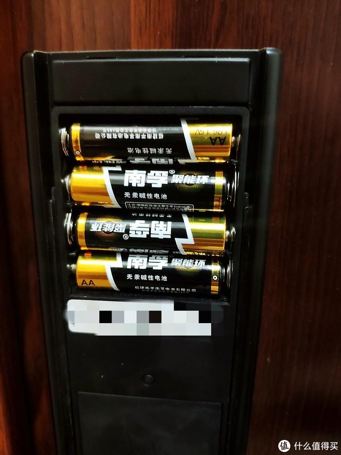 ▲5号电池在智能门锁上的使用