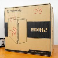 Tt挑战者H2 黑色 中塔机箱外观展示(开槽|灯带|风扇位|侧面|档槽)