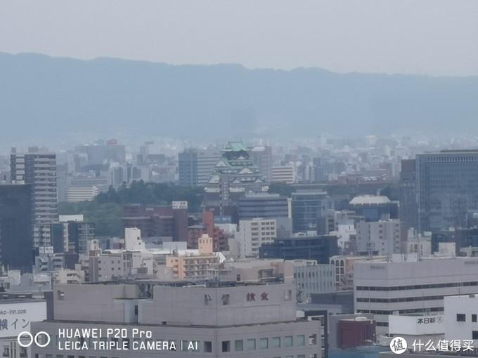 从摩天轮上可以看到大阪城