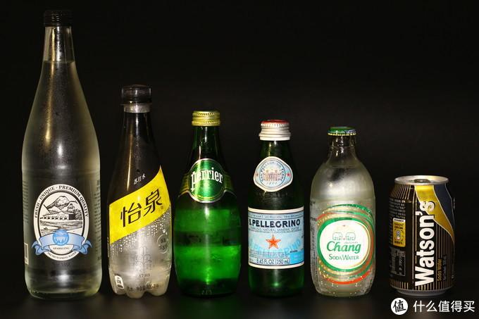 我买的几种气泡水,从左往右介绍