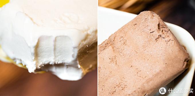 左:光明简砖  右:光明巧克力味简砖